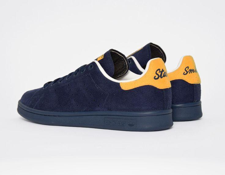 grossiste acf8a a4171 stan smith bleu marine jaune