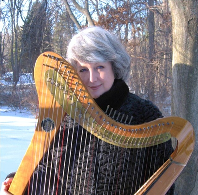 Emily Mitchell With Her Celtic Harp, Constructed By Arslaan Fay · HarpMusical  InstrumentsCeltic