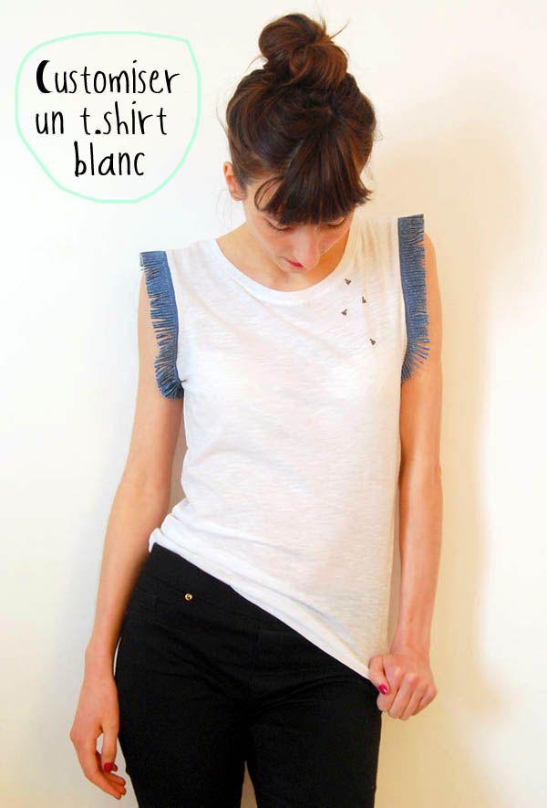 DIY customiser un t-shirt blanc