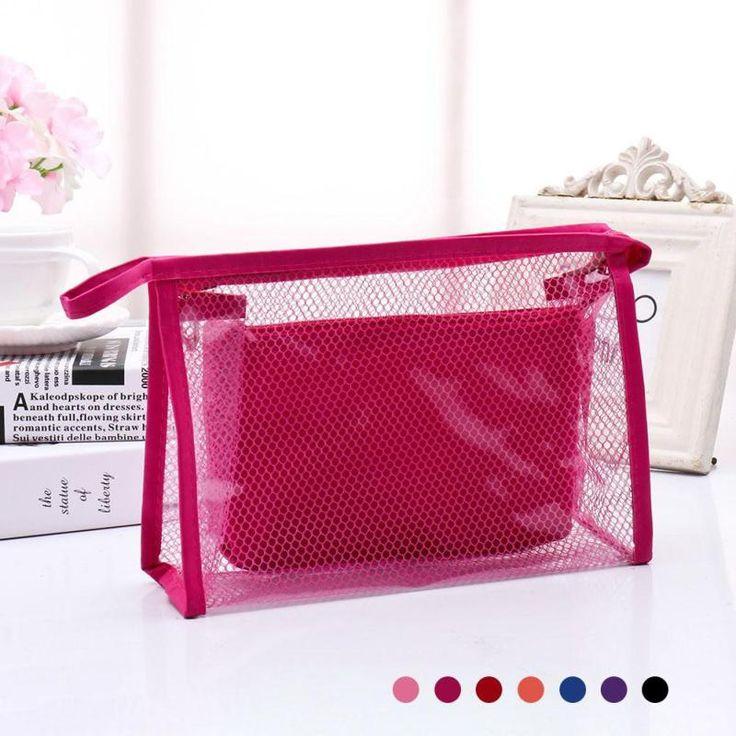 1Pc Waterproof Clear Transparent Plastic PVC Travel Cosmetic Makeup Toiletry Bag Travel Beauty Makeup Tool Kit