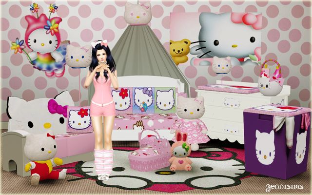 24 besten sims 3 interior design bilder auf pinterest - Hello kitty babyzimmer ...