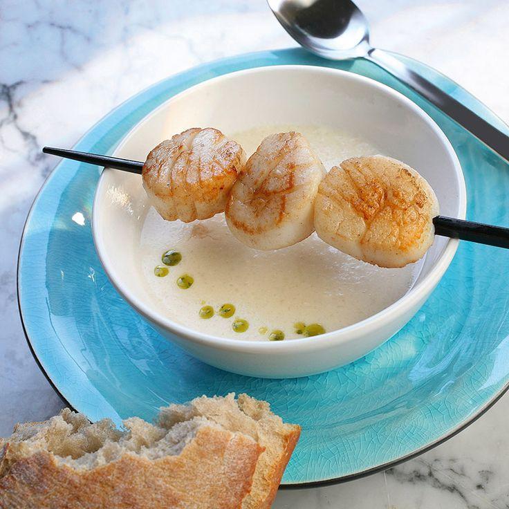 Soppa med rostade pilgrimsmusslor Recept | ViktVäktarna