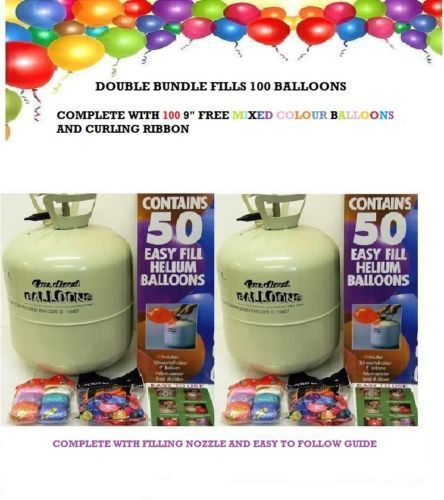 Disposable-Helium-Gas-Double-Pack-For-All-Occasions-Fillls-100-Balloons