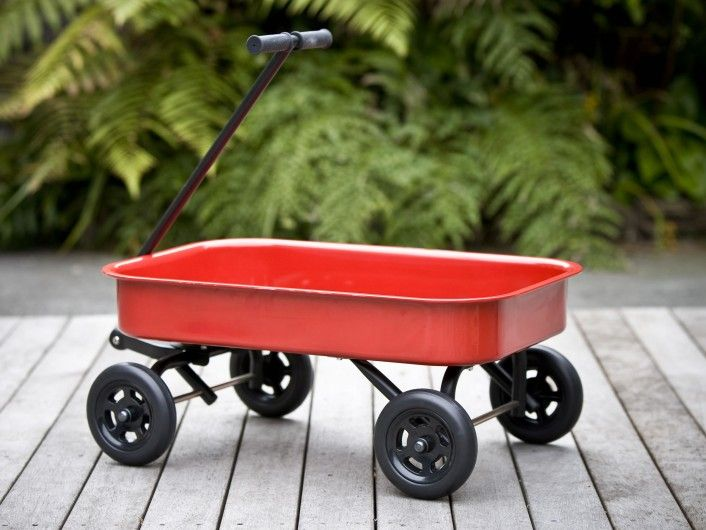 Mocka Kids Steel Wagon Red