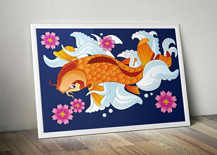 Koi fish vector illustration.