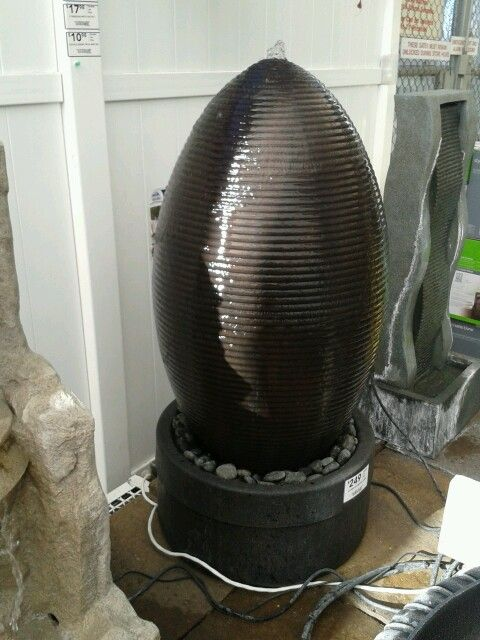 Saw This Egg Shaped Fountain At Lowes Would Like To Have