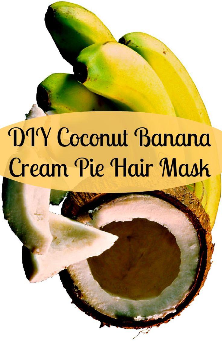 DIY Coconut Banana Cream Pie Hair Mask