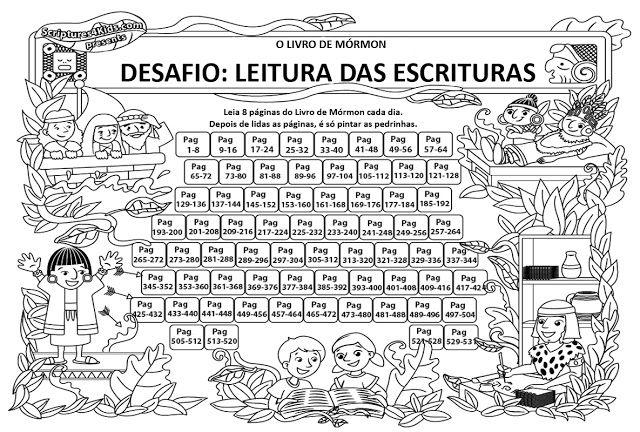 As Tontas Vão Ao Céu: Gráfico de Leitura do Livro de Mórmon Para Primári...