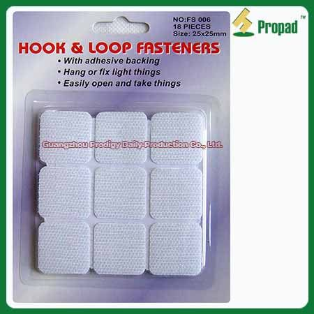 Hook and Loop Velcro Tape FS006 #Hook and Loop Velcro Tape /Hook & Loop Fastening Tape/Adhesive Hook and Loop  Hook and Loop Velcro Tape can use indoor and outdoor to fix or fasten thing. Such as use on tools, photo frame, rain coat, clothes, handbag, window curtains, outdoor tent, mosquito net, small appliance accessory, wires, books, suitcase, shoes, toy, ect. Different colors, sizes and materials are available. Small/ Middle /Big hook for choosing.