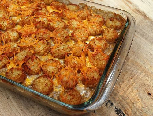Cowboy casserole! #meatandpotatoes #casserole: Sour Cream, Ground Beef, Mushrooms Soups, Tater Tots, All Pans, Comforter Food, Cowboys Casseroles, Cream Of Mushrooms, Dogs Food