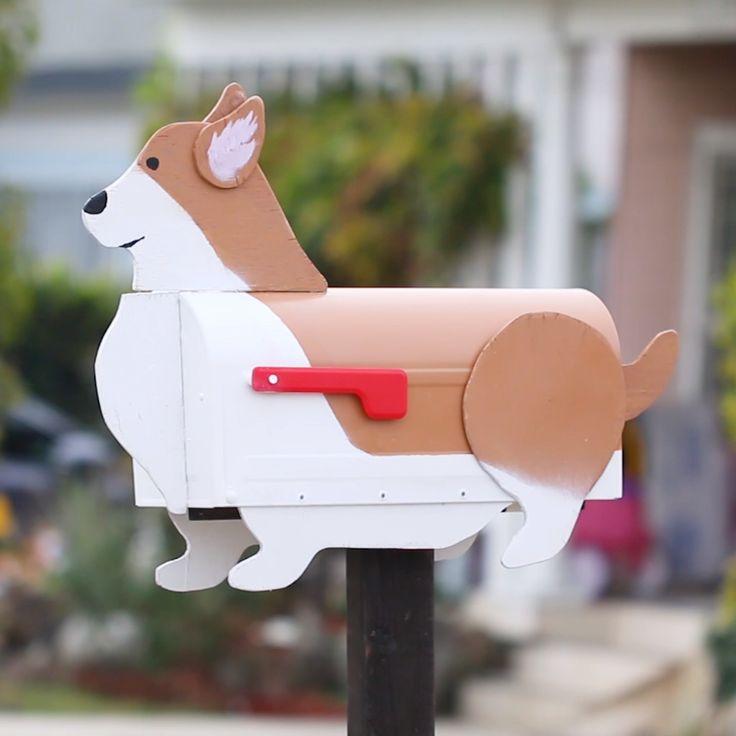 Corgi Mailbox // #Corgi #dog #mailbox #home #diy