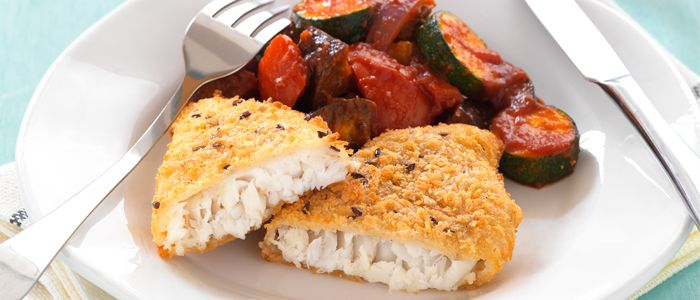 Hoki Fillets with Roasted Vegetable Ratatouille recipe from Food in a Minute