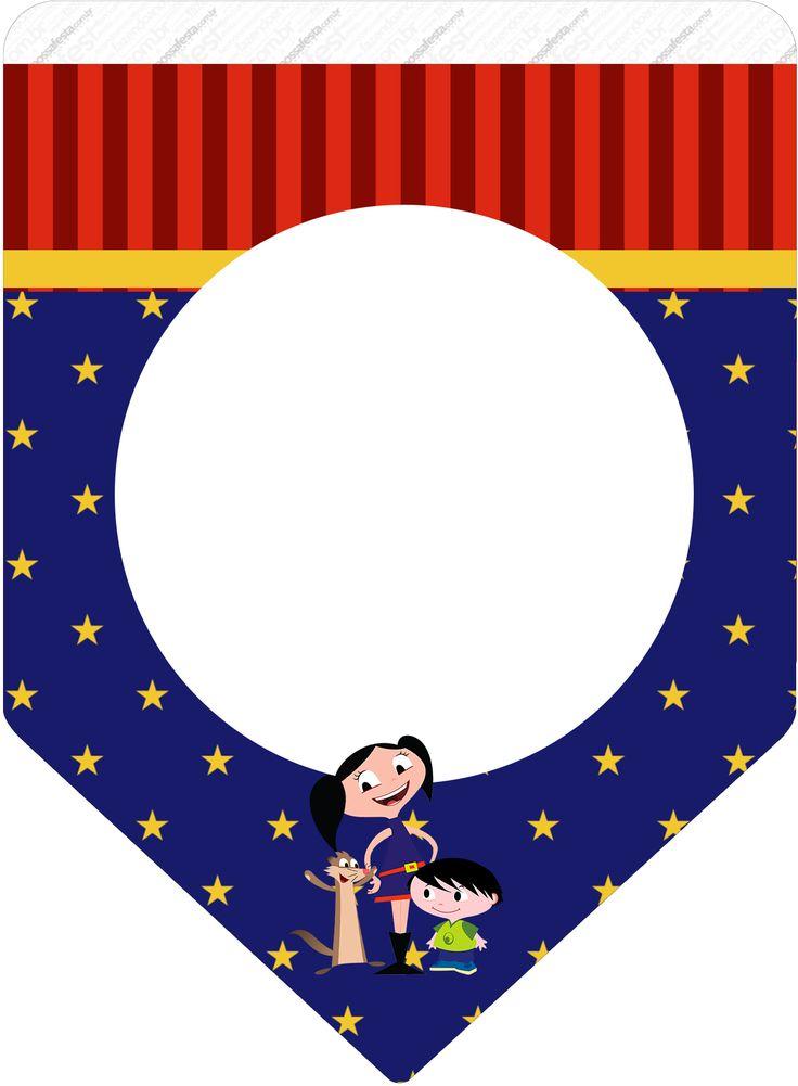 Bandeirinha Varalzinho Show da Luna Azul e Vermelho