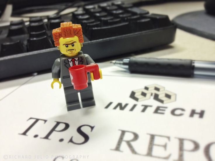 TPS Reports - Office Space Parody - Lego macro photography series by Richard Julio Photography