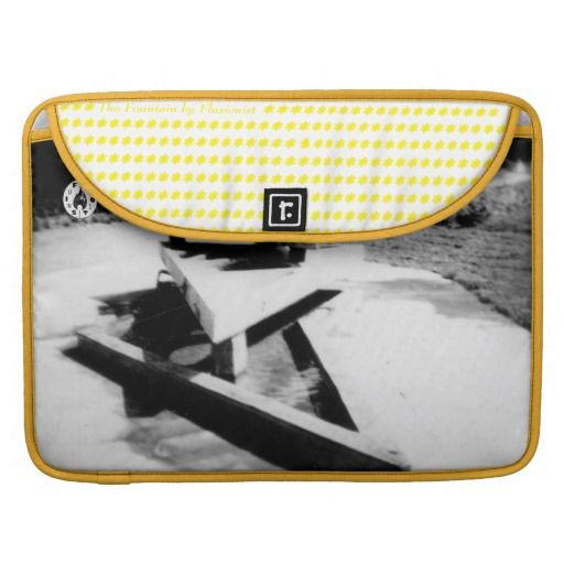The Fountain Sleeve For MacBook Pro - $72.00 Made by Rickshaw Bagworks / Design: Fluxionist