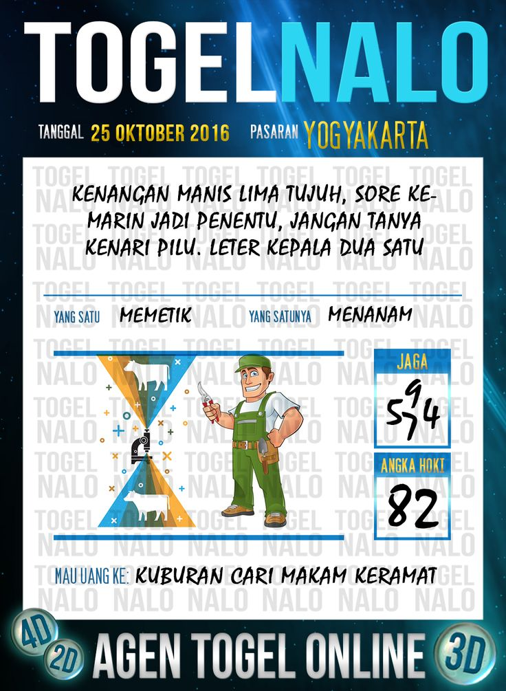 Tafsir Syair Togel Wap Online Live Draw 4D TogelNalo Yogyakarta 25 Oktober 2016