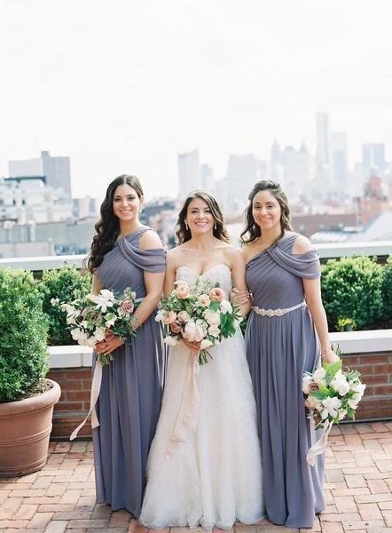 6fd61b6209b Dark Grey Chiffon One Shoulder Long A-line Simple Elegant Bridesmaid Dresses