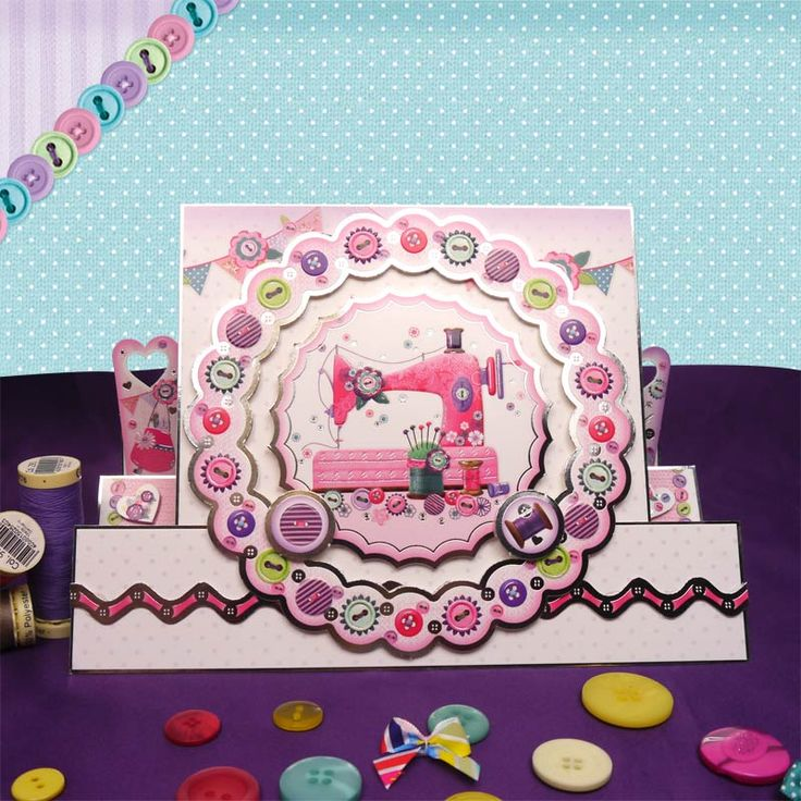 Hunkydory Faberdashery - die cut toppers & co-ordinating card