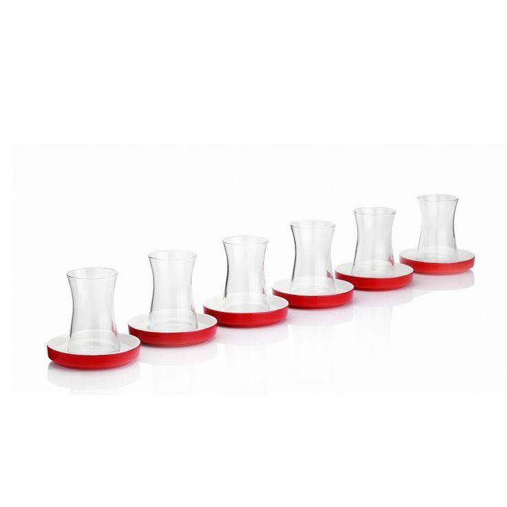 Karaca Sefa 6 Lı çay Bardak Takım Kırmızı