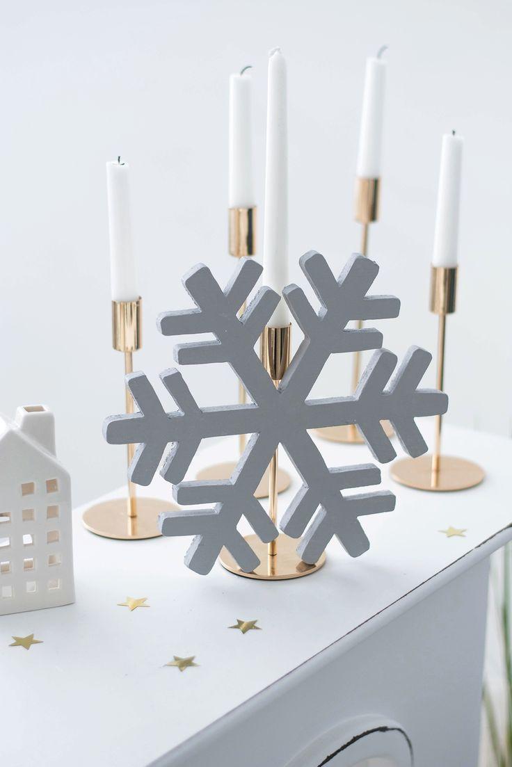 DIY Schneeflocken aus Leimholz #sinnenrausch #sinnenrauschAdventskalender #diy