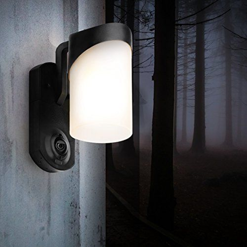 Maximus Smart Home Security Outdoor Light & Camera - Contemporary Black | Wireless Outdoor Cameras