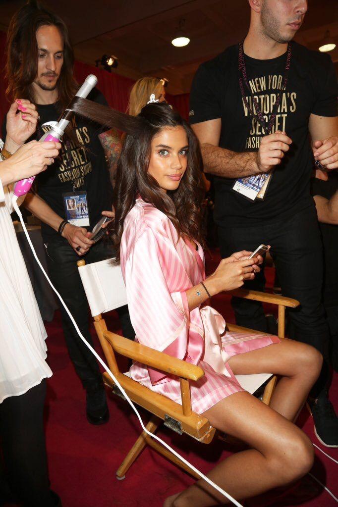 Sara Sampaio backstage at the VS Victoria's Secret Fashion Show vsfs 2015 - december/ in NYC