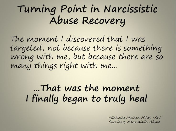 Milestones in Recovering from Narcissistic Abuse ...