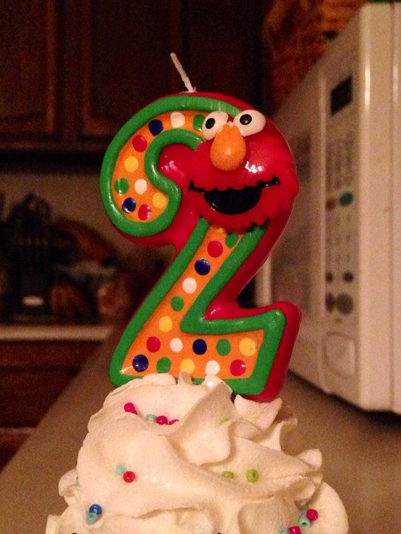 18 best Elmo Candle ideas for Obeds 3rd Birthday Party images on