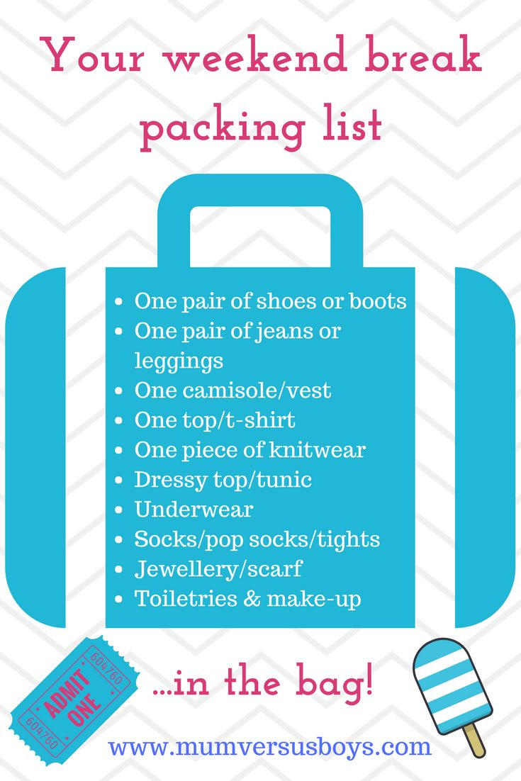 Stuck for what to add to your packing list for a weekend away. Here are my weekend break essentials - to see the full article visit :http://mumversusboys.com/my-weekend-in-the-big-smoke-packing-the-essentials