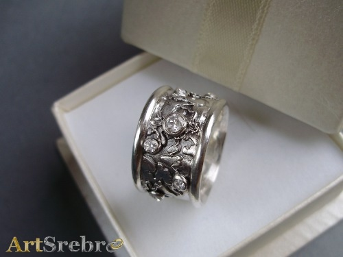 "Snow Queen""- silver ring"