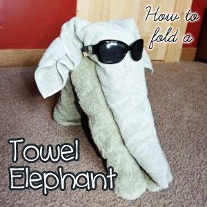 animal towel folding instructions