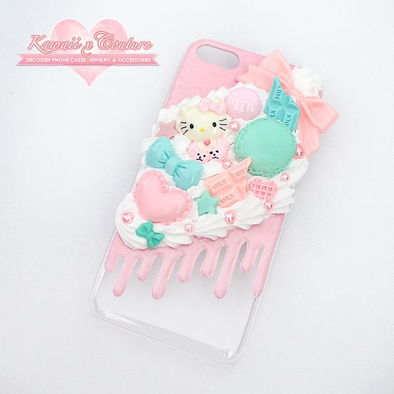 """iPhone 5C Sweets Case """" SHOP: Kawaii x Couture Decoden Handmade decoden phone cases, jewelry, & accessories ♡ """""""