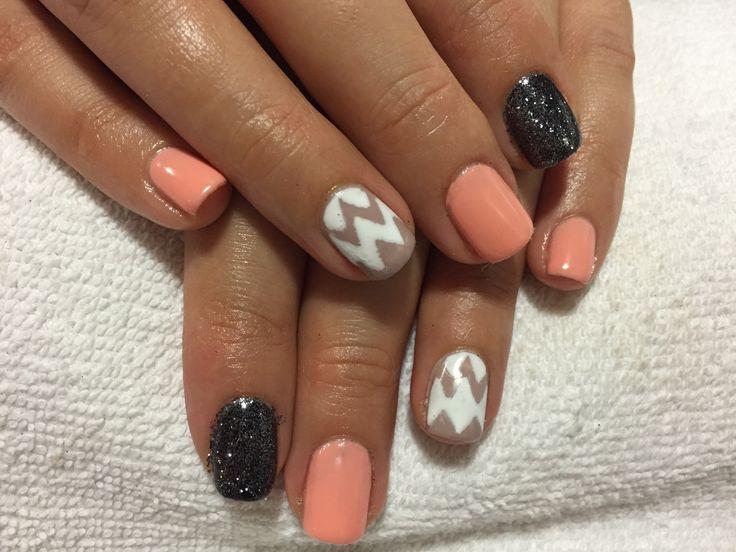 Shellac nails pigment powder