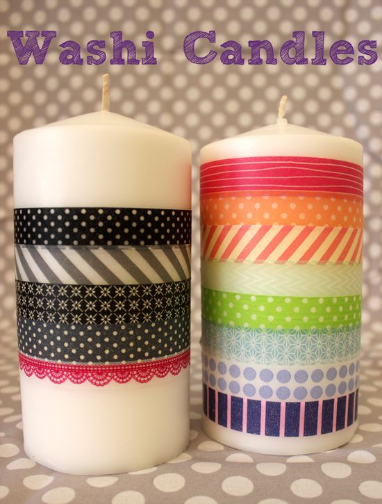 Washi Tape Candles ~ Mom's Crafty Space