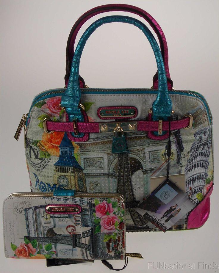 FUNsational Finds: Nicole Lee Handbags & Wallets - European and New York Patterns #NicoleLee #Handbags