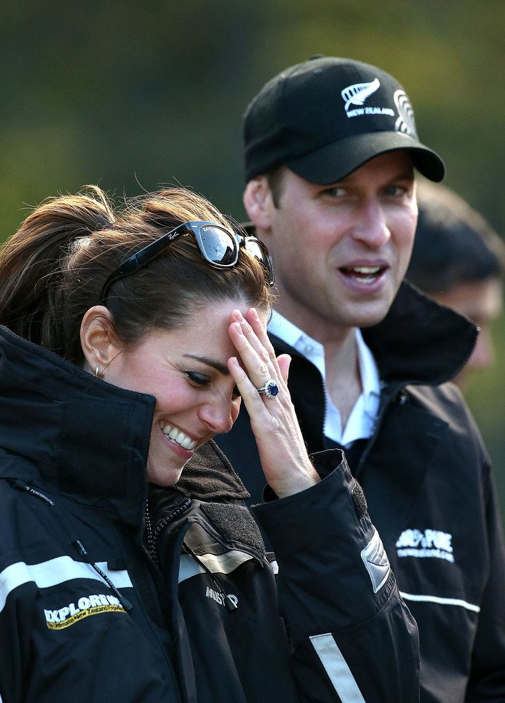 Kate couldn't keep it together during her sporty day with Prince William on  the