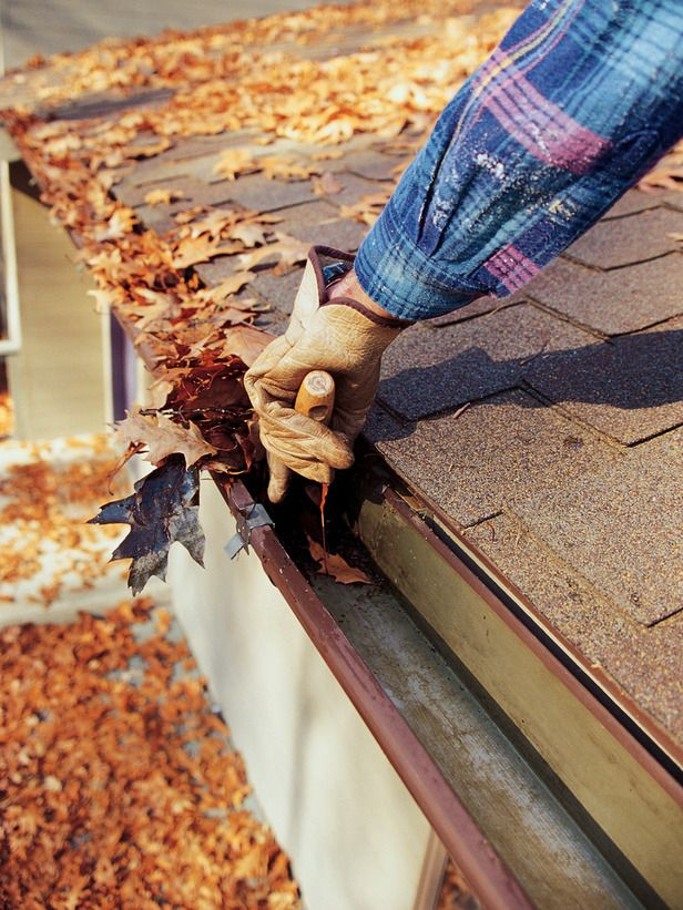 Prevent winter water damage to your home by cleaning gutters and downspouts.
