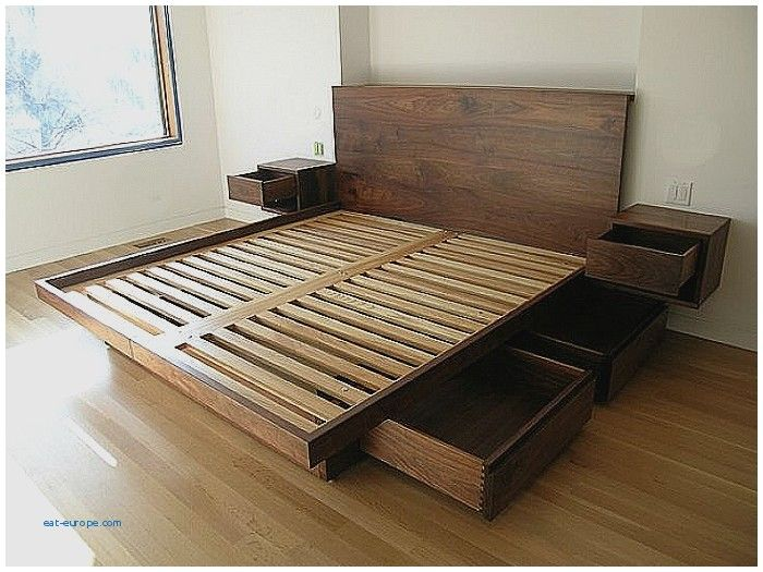 Image Result For Headboard With Built In Nightstands Bed Frame With Drawers Bed Frame With Storage Platform Bed With Drawers