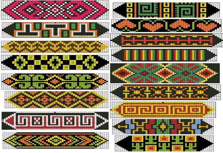Loom or Square Stitch Beadwork Patterns  #heartbeadwork