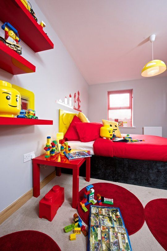 For LEGO Lovers: A Model LEGO Kids Room