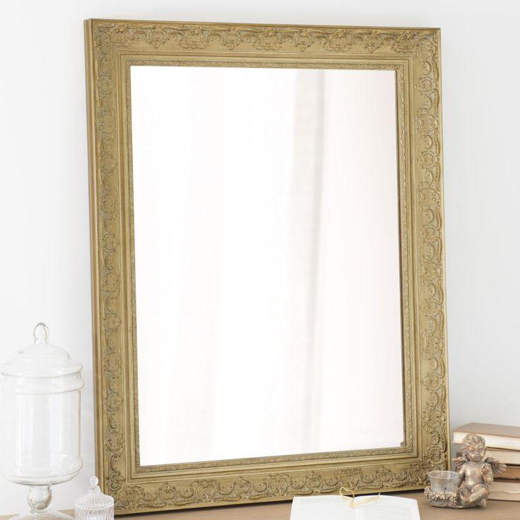 Specchio in legno di paulonia dorato 70x90 cm Valentine