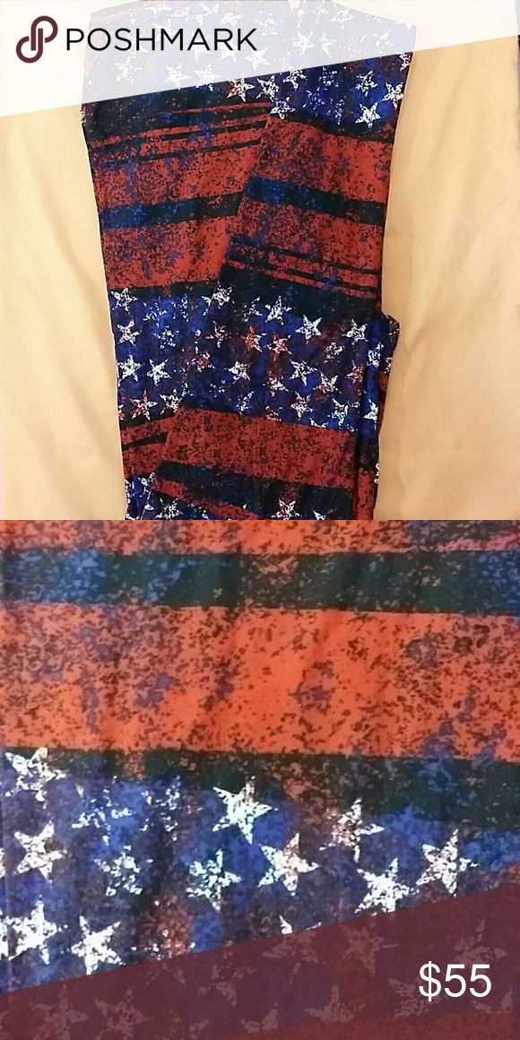 NEW AMERICANA TC LULAROE LEGGINGS! Red, white & blue American Flag tall & curvy fits most(12-22) legging. Brand new only tried on. Material is very soft & stretchy! Thanks for looking! ?? LuLaRoe Other