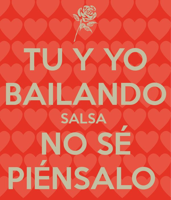 Tu Y Yo Bailando Salsa No Se Piensalo