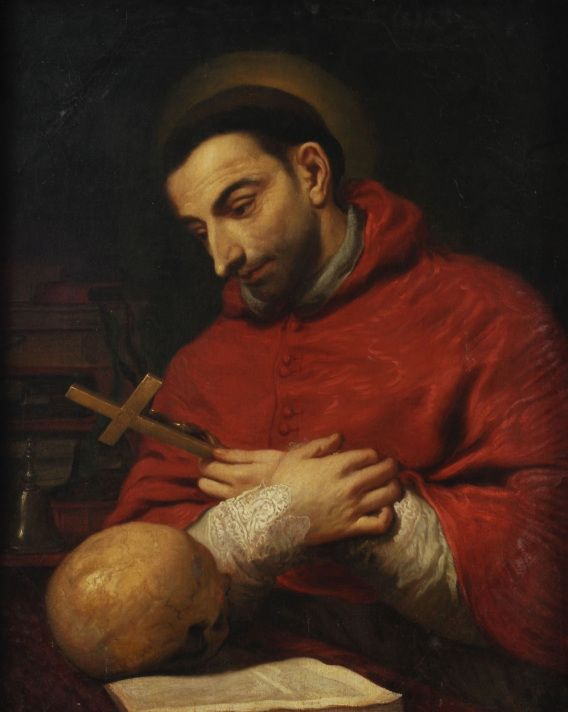 """Saint of the Day – St Charles Borromeo (1538-1584) Archbishop of Milan, Cardinal, Doctor of Theology, Civil and Canon Law, Reformer, Founder of Seminaries.  He is known as the """"Father of the Clergy"""".   Born Count Carlo Borromeo on the morning of Wednesday 2 October 1538 in the castle at Aron, diocese of Novara, Italy and he died at  8:30pm on 3 November 1584 of a fever at Milan, Italy.  His will named the Hospital ......"""