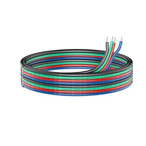 49.2ft 4pin Extension Cable Wire Cord 15M 20awg Electrical Wire Cable 4 Conductor Parallel Wire line Flexible UL1007 Strands Tinned copper wire for RGB Led Strips 3528 5050 Hook Up wire #Extension #Cable #Wire #Cord #Electrical #Conductor #Parallel #line #Flexible #Strands #Tinned #copper #wire #Strips #Hook
