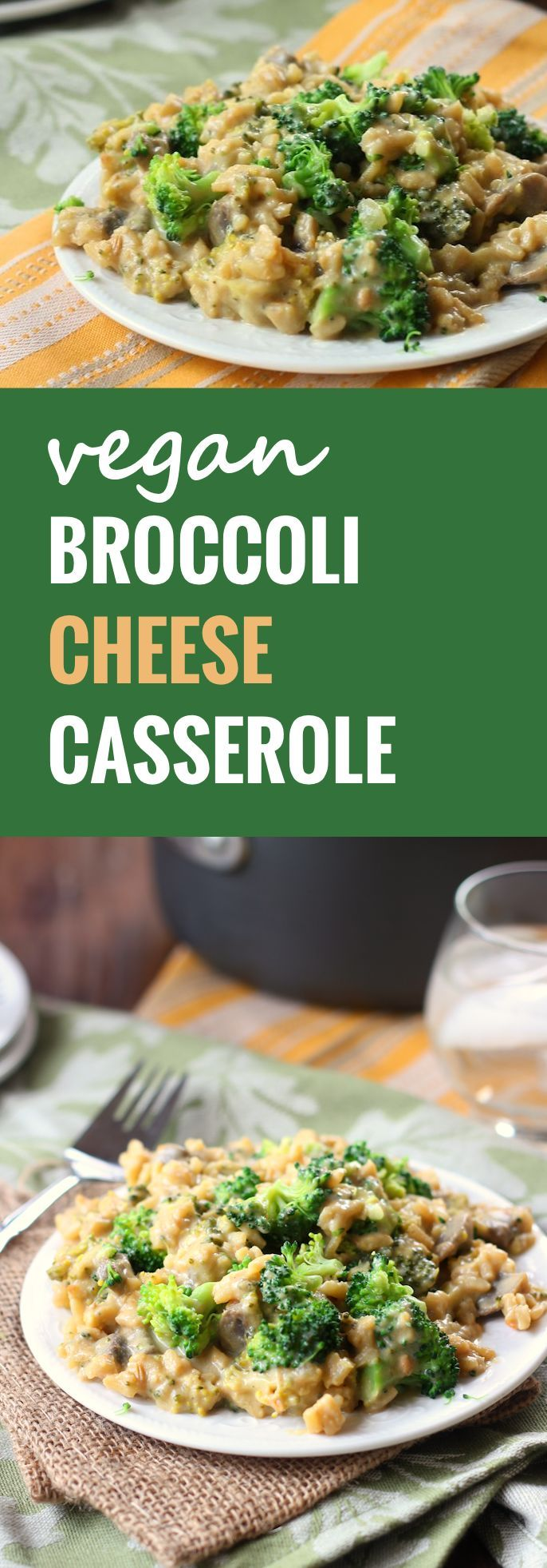 This 100% plant-based and junk food free vegan broccoli cheese casserole will knock your socks off!