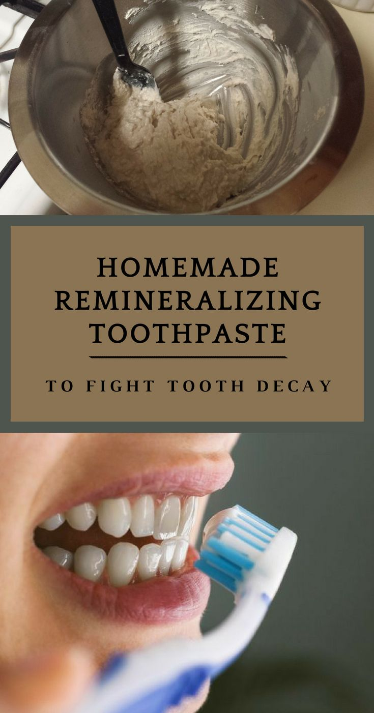 Homemade remineralizing toothpaste to fight tooth decay
