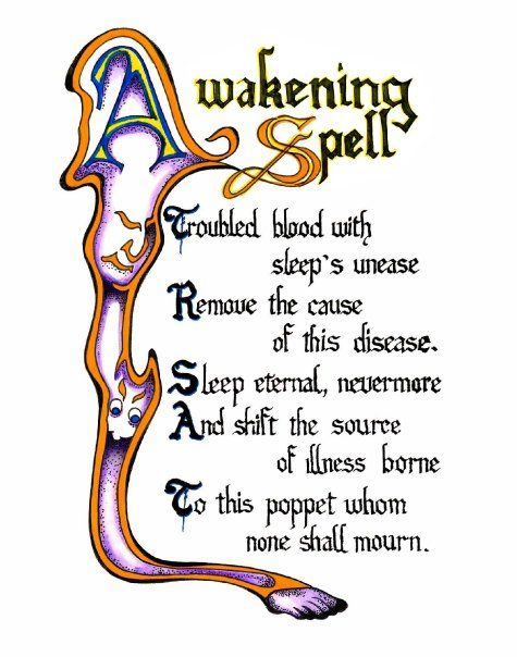 Printable Witches Spell Book Pages | Awakening Spell - A New Book of Shadows for Charmed Fans Wiki