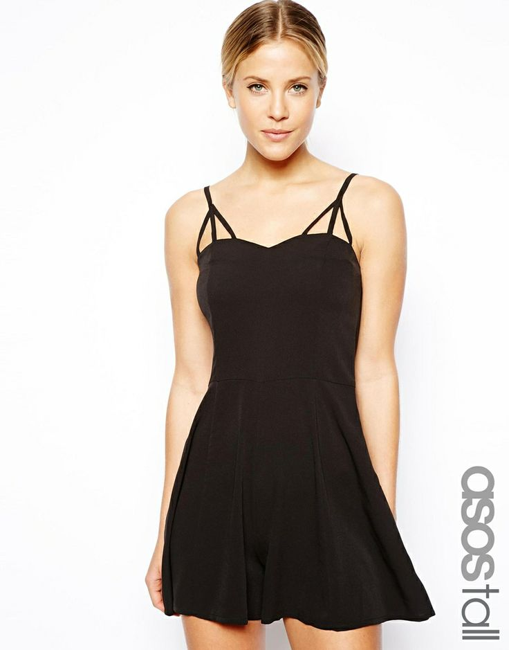 ASOS TALL Playsuit with Multi Strap Detail