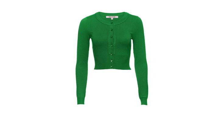 Chessie Long Sleeve Cardi Emerald | Knitwear | Review Australia
